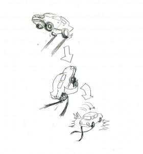 タイヤ跡の謎の考察2