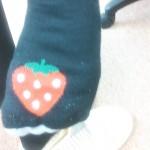 足の裏にイチゴ